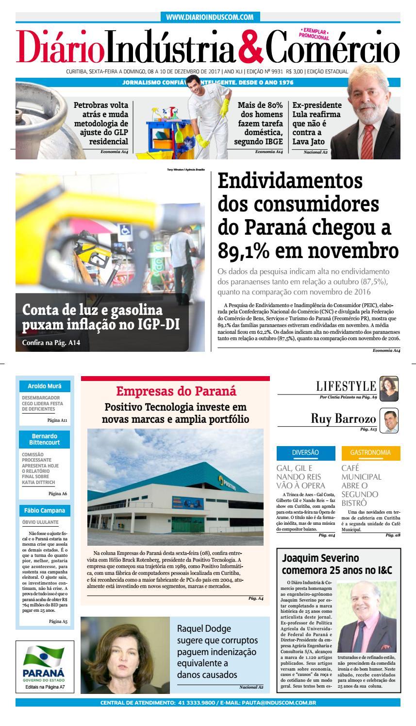 Diário Indústria Comércio - 08 de dezembro de 2017 by Diário Indústria    Comércio - issuu 1637b0e62c