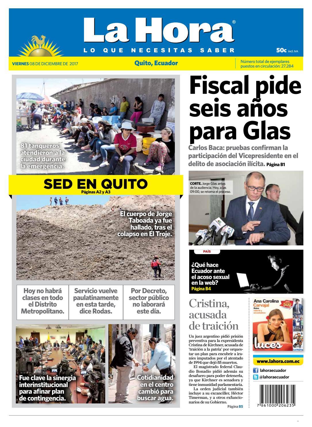 Quito 08 de diciembre de 2017 by Diario La Hora Ecuador - issuu 930c2e40ee6