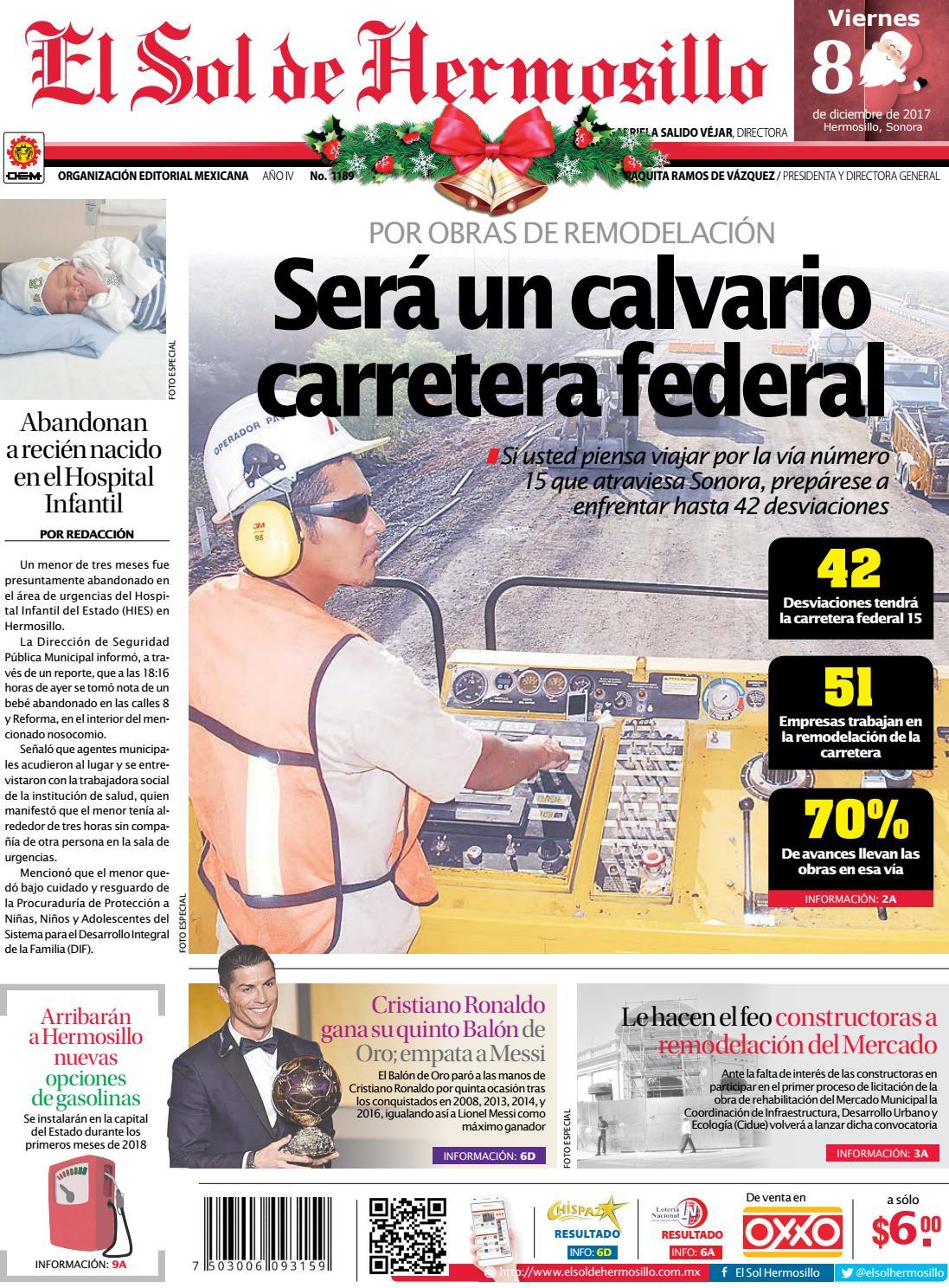 Edicion Impresa 17 De Noviembre By El Sol De Hermosillo Issuu # Cota Muebles Teziutlan