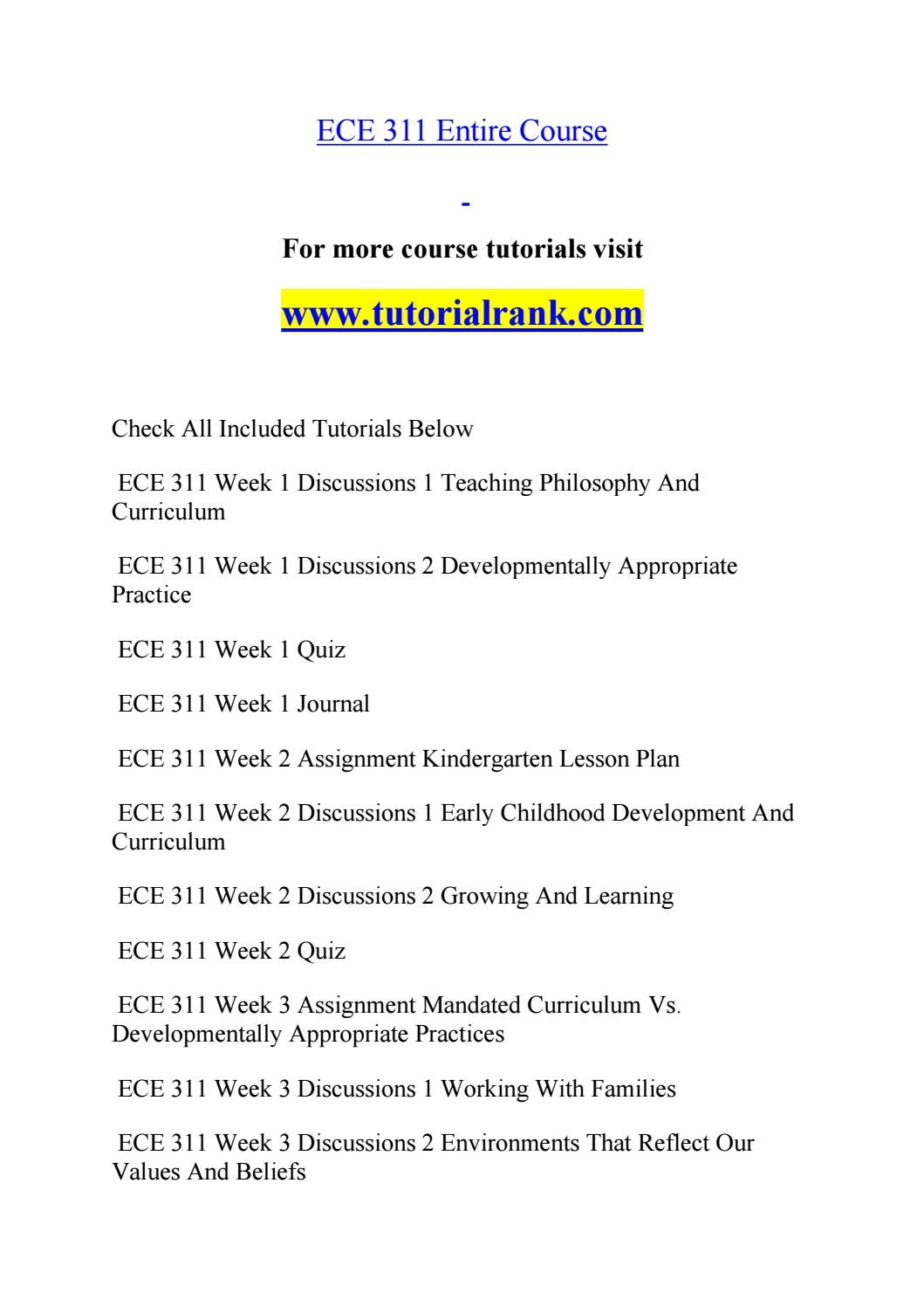 ECE 311 course Marvelous Learning / tutorialrank com by