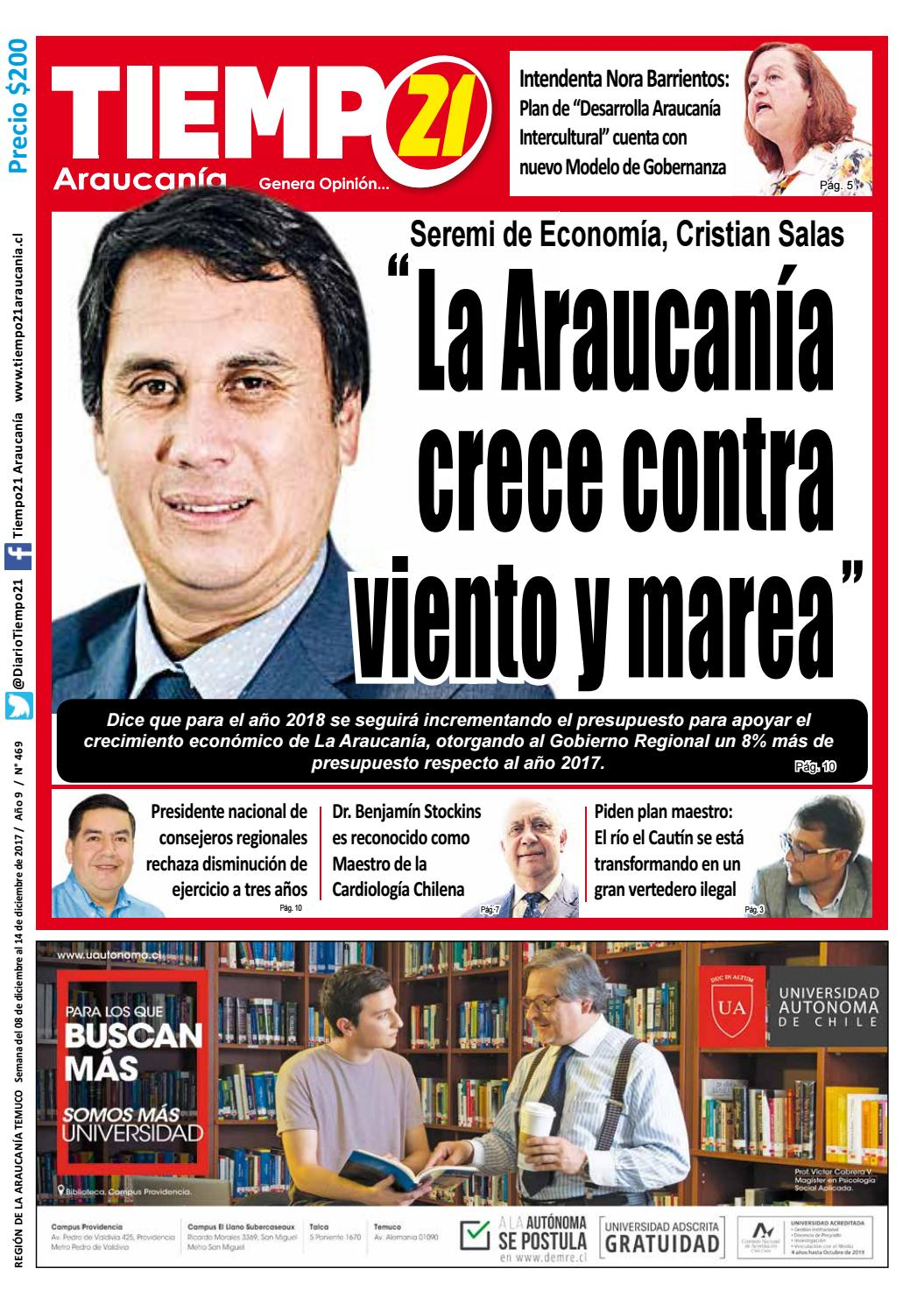 Edici N 469 Seremi De Econom A Cristian Salas La Araucan A  # Muebles Jouannet Temuco
