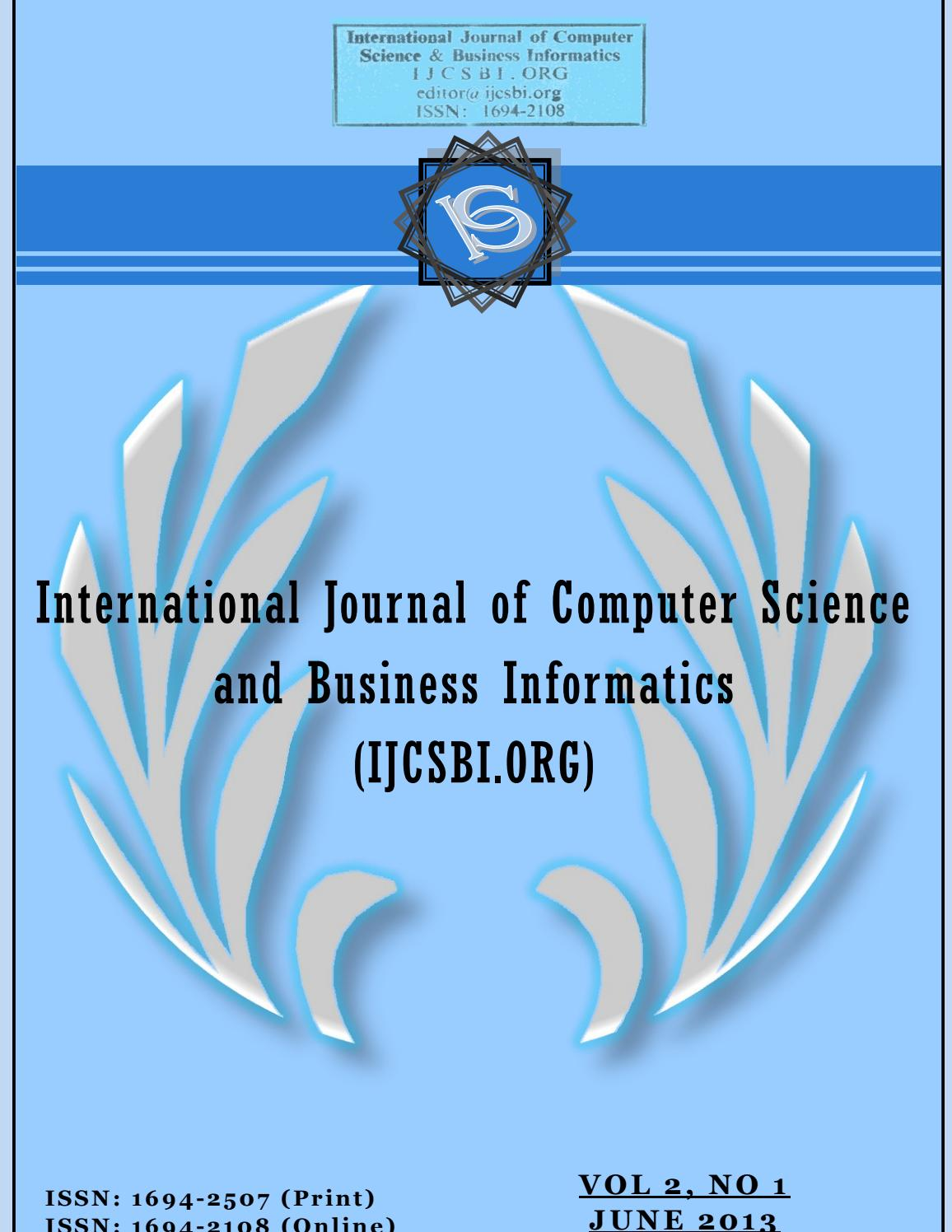 Vol 2 No 1 June 2013 By Ijcsbiorg Issuu Circuitlab Phase Shift Delay