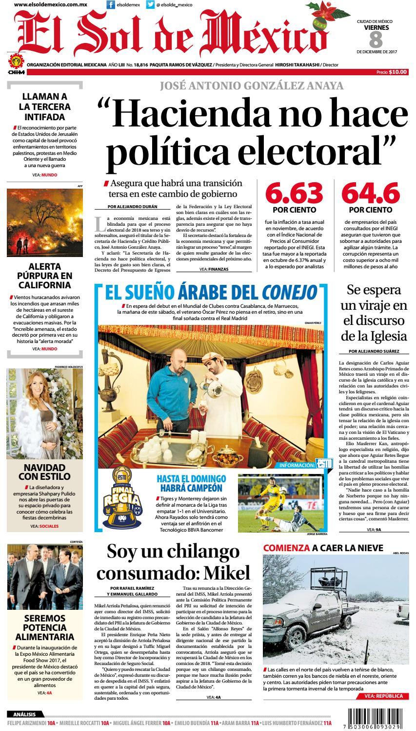 El Sol de México 8 de Diciembre de 2017 by El Sol de México - issuu 874234cdae47c