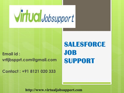SalesForce Job Support from Hyderabad - Virtual job support