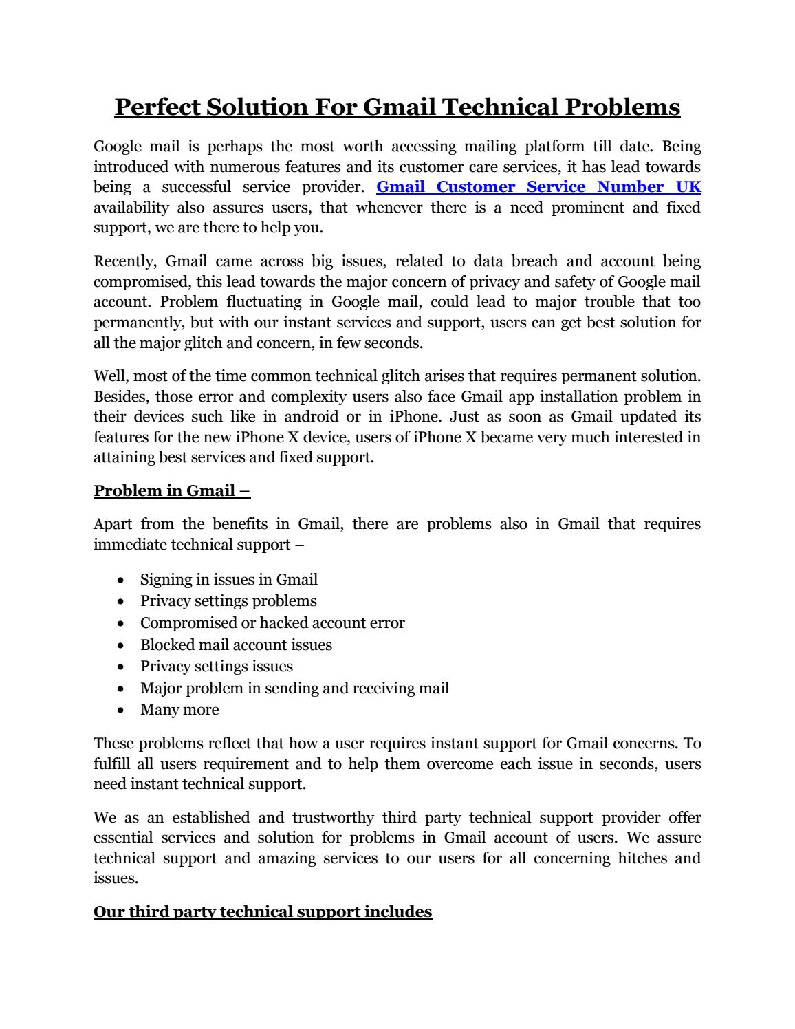 Gmail Technical Support Phone Number by abramskalty - issuu