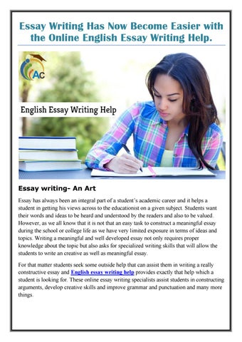 essay writing has now become easier with the online english essay  essay writing has now become easier with the online english essay writing  help