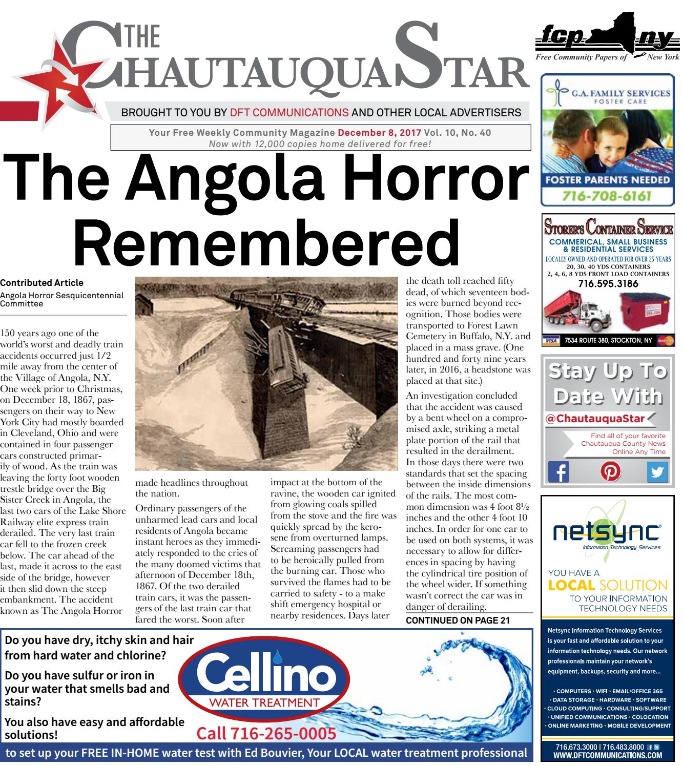 Chautauqua Star, December 08, 2017 by The Chautauqua Star
