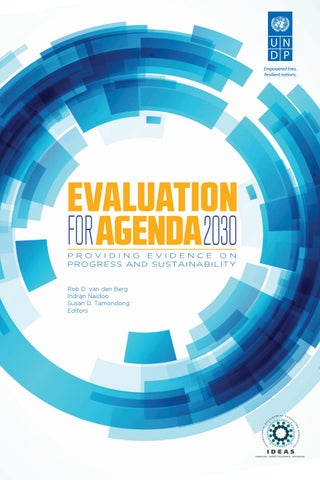 Evaluation For Agenda 2030 By Undp Independent Evaluation Office Issuu