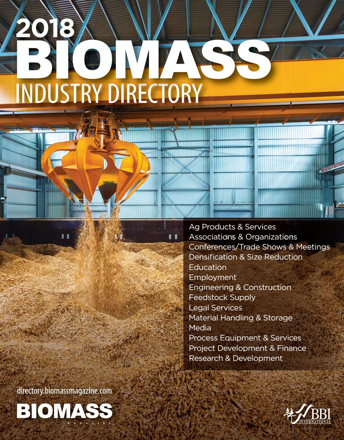 2018 Biomass Industry Directory by BBI International - issuu