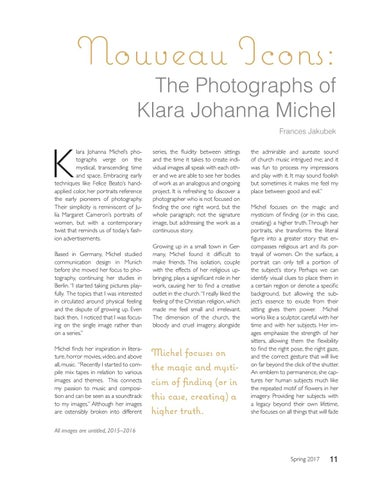 Page 11 of Nouveau Icons: The Photography of Klara Johanna Michel