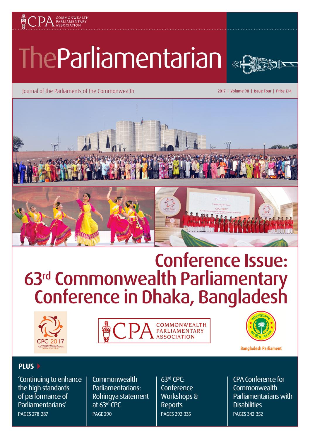 The Parliamentarian 2017: Issue Four: Conference Issue by