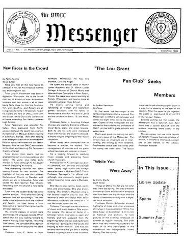 1986-1987 DMLC Messenger Vol  77 by Martin Luther College