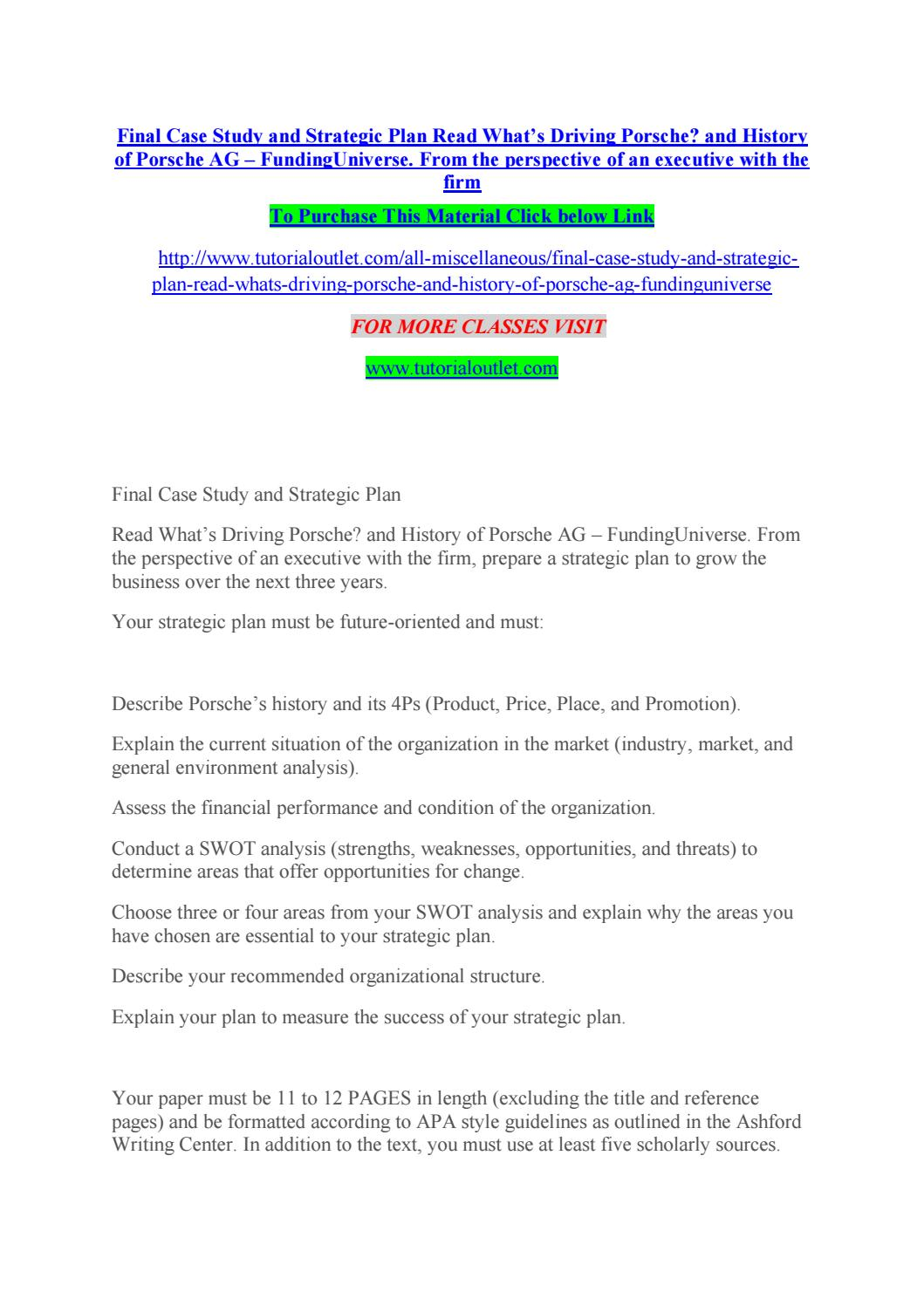business case study analysis