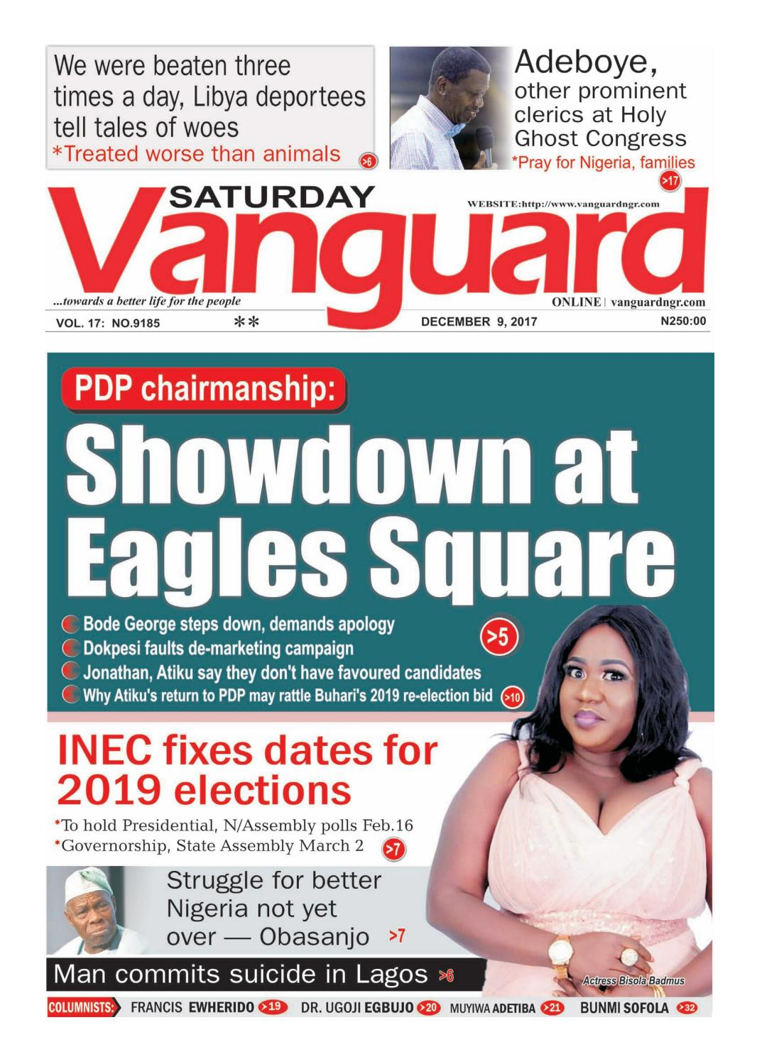 09122017 - PDP chairmanship: Showdown at Eagles Square by