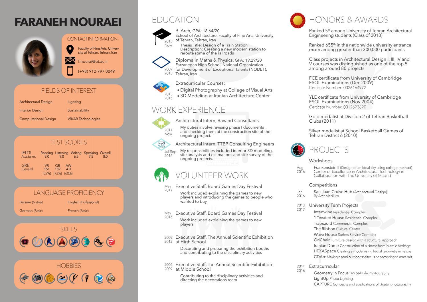 Resume - Faraneh Nouraei by Faraneh Nouraei - issuu
