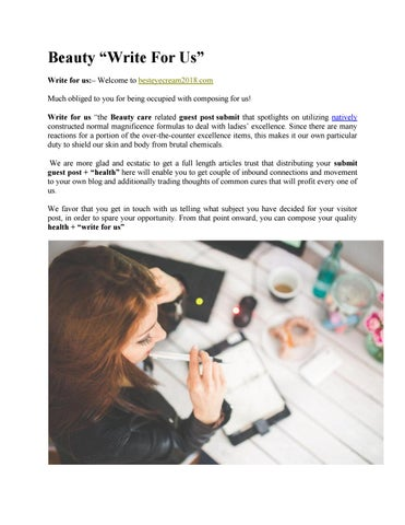 Write for Us Beauty by Health Blogger - issuu