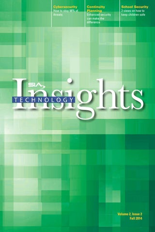 867860bd35de SIA Technology Insights: Fall 2014 by Security Industry Association ...