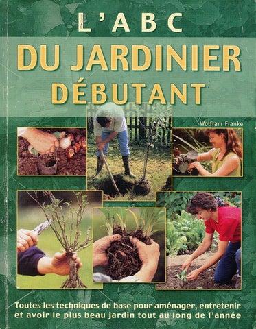 Wolfram Franke - L'ABC du jardinier débutant sur Bookys