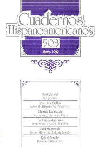 Cuadernos hispanoamericanos 503 by Tiberio - issuu