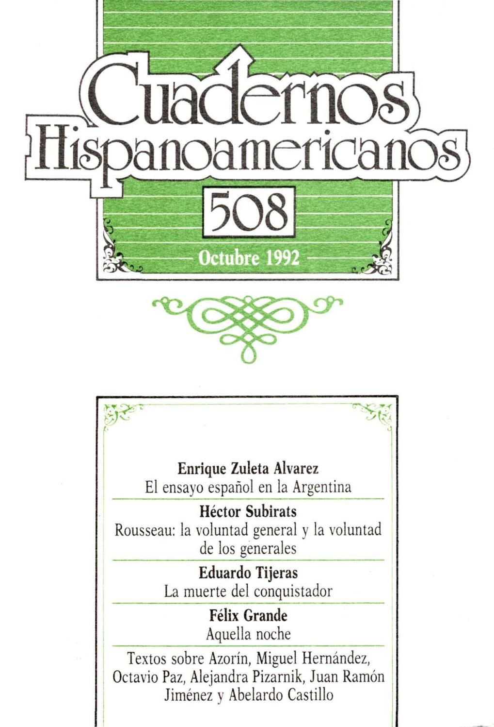 Cuadernos hispanoamericanos 508 by Tiberio - issuu
