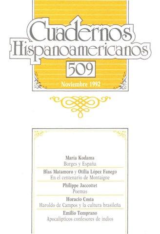 Cuadernos hispanoamericanos 509 by Tiberio - issuu