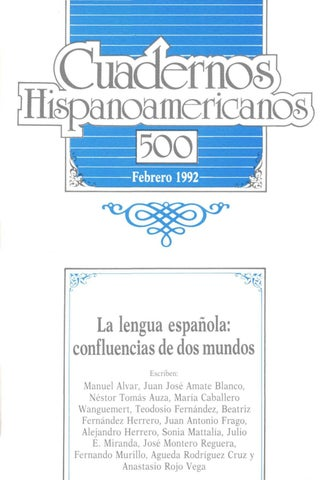 Cuadernos hispanoamericanos 500 by Tiberio - issuu