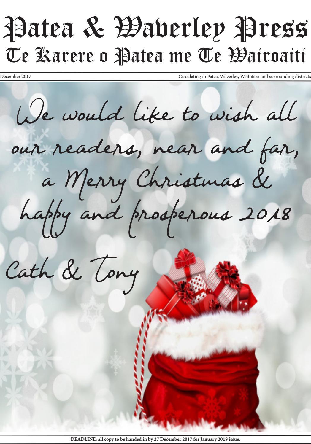 Patea & Waverley Press December 2017 by Cath Sheard - issuu