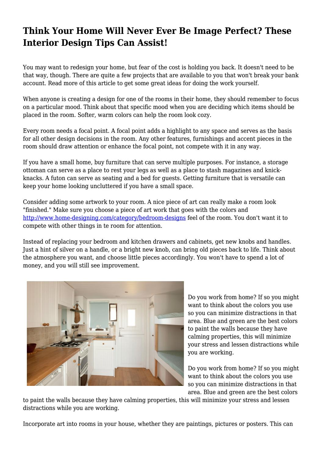 Think Your Home Will Never Ever Be Image Perfect? These Interior Design  Tips Can Assist!... By Dayrrjlvewukfadrian   Issuu