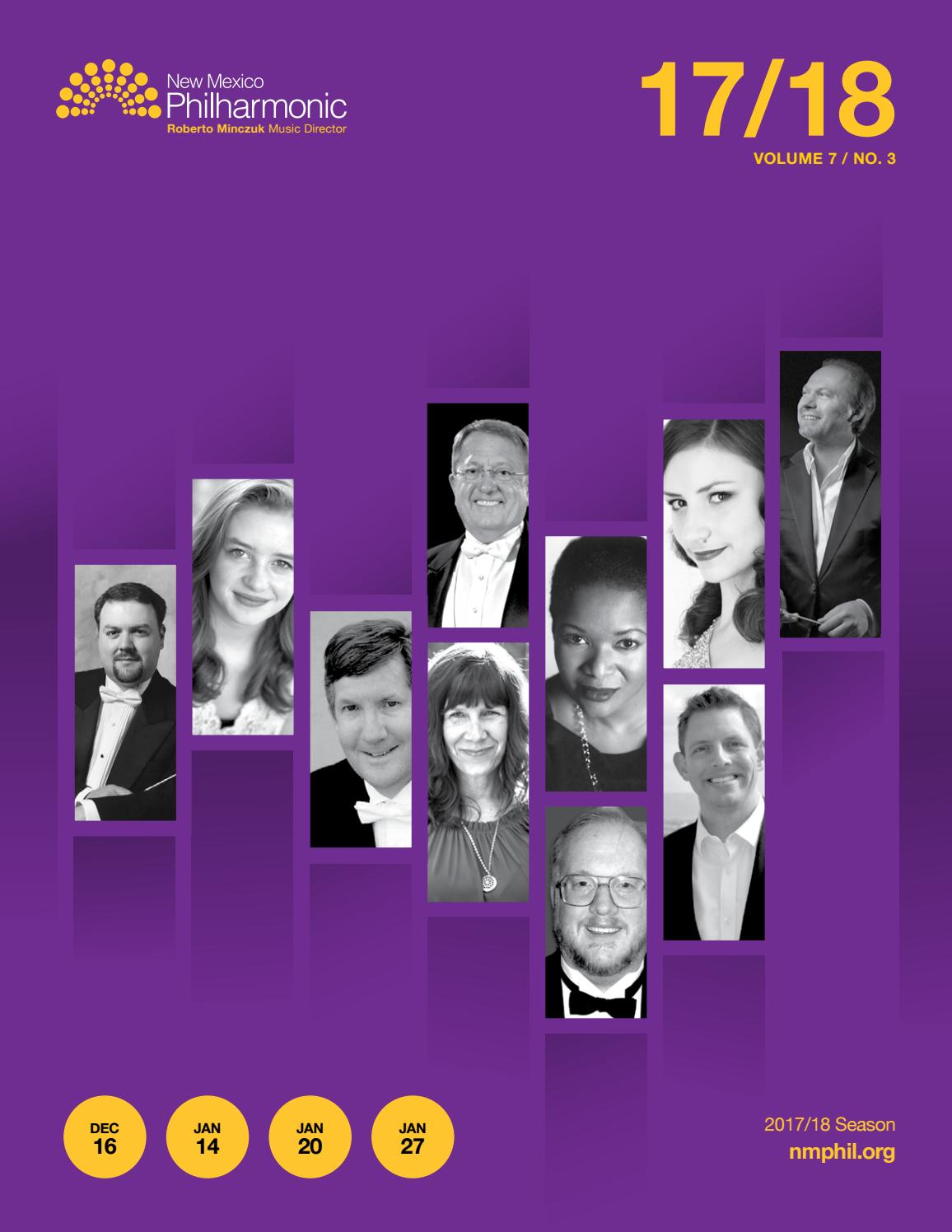 finest selection special sales preview of New Mexico Philharmonic Program Book • 2017/18 Season ...