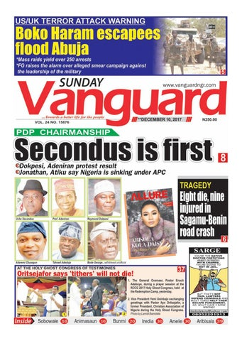 10122017 - PDP NATIONAL CHAIRMAN Secondus is first by Vanguard Media