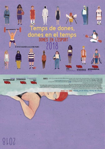 """Calendario STEs-intersindical """"Temps de Dones"""" 2018 Valencià"""