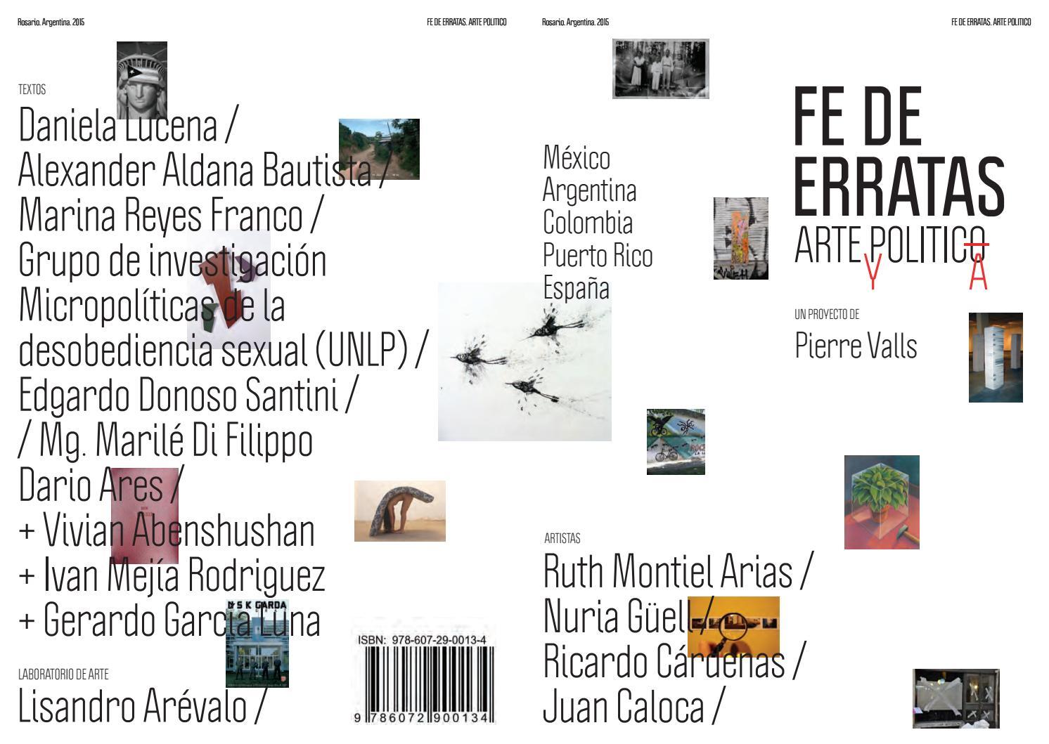 Fe de erratas: arte y política by kilu pierre - issuu