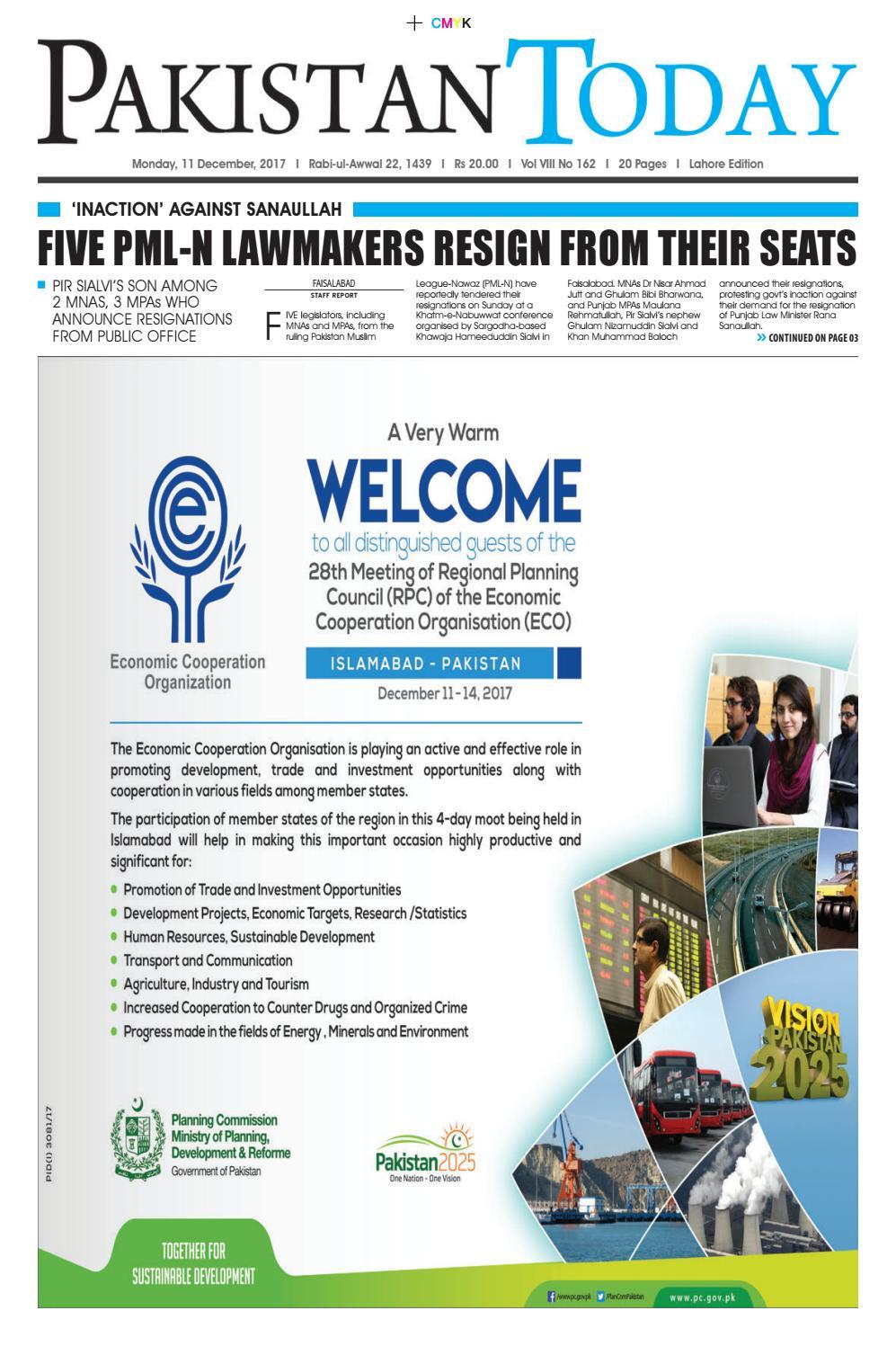 8cbd01e6 E paper pdf 11 december (lhr) by Pakistan Today - issuu