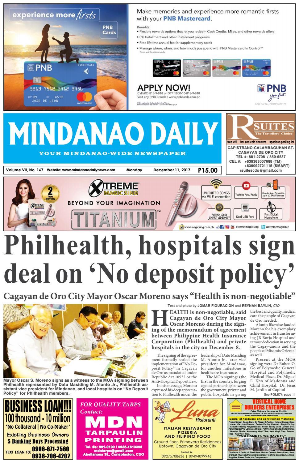 Mindanao Daily (December 11, 2017) by Mindanao Daily News