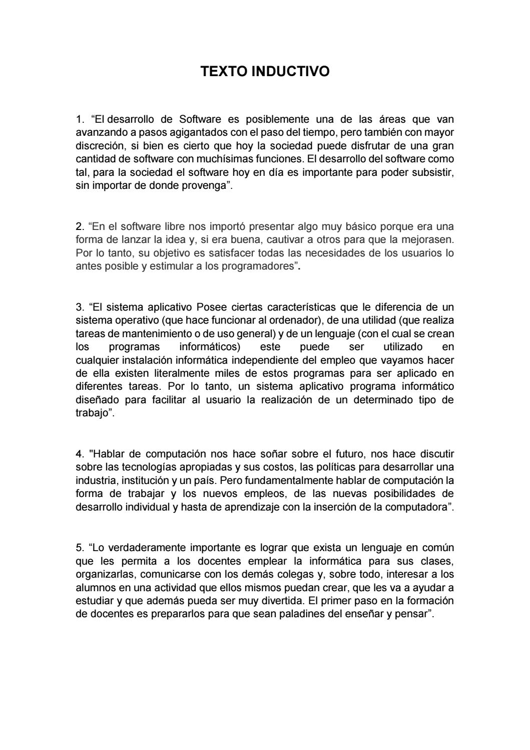 Texto Inductivo Y Deductivo By Juan Alarcón Issuu