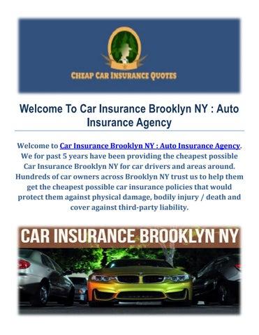 Cheap Auto Insurance >> Cheap Car Insurance In Brooklyn By Car Insurance Brooklyn Ny