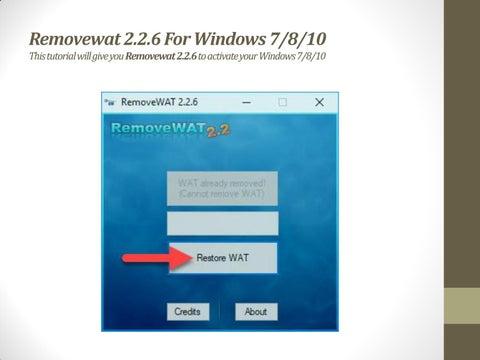 REMOVEWAT 2.2.7 TÉLÉCHARGER