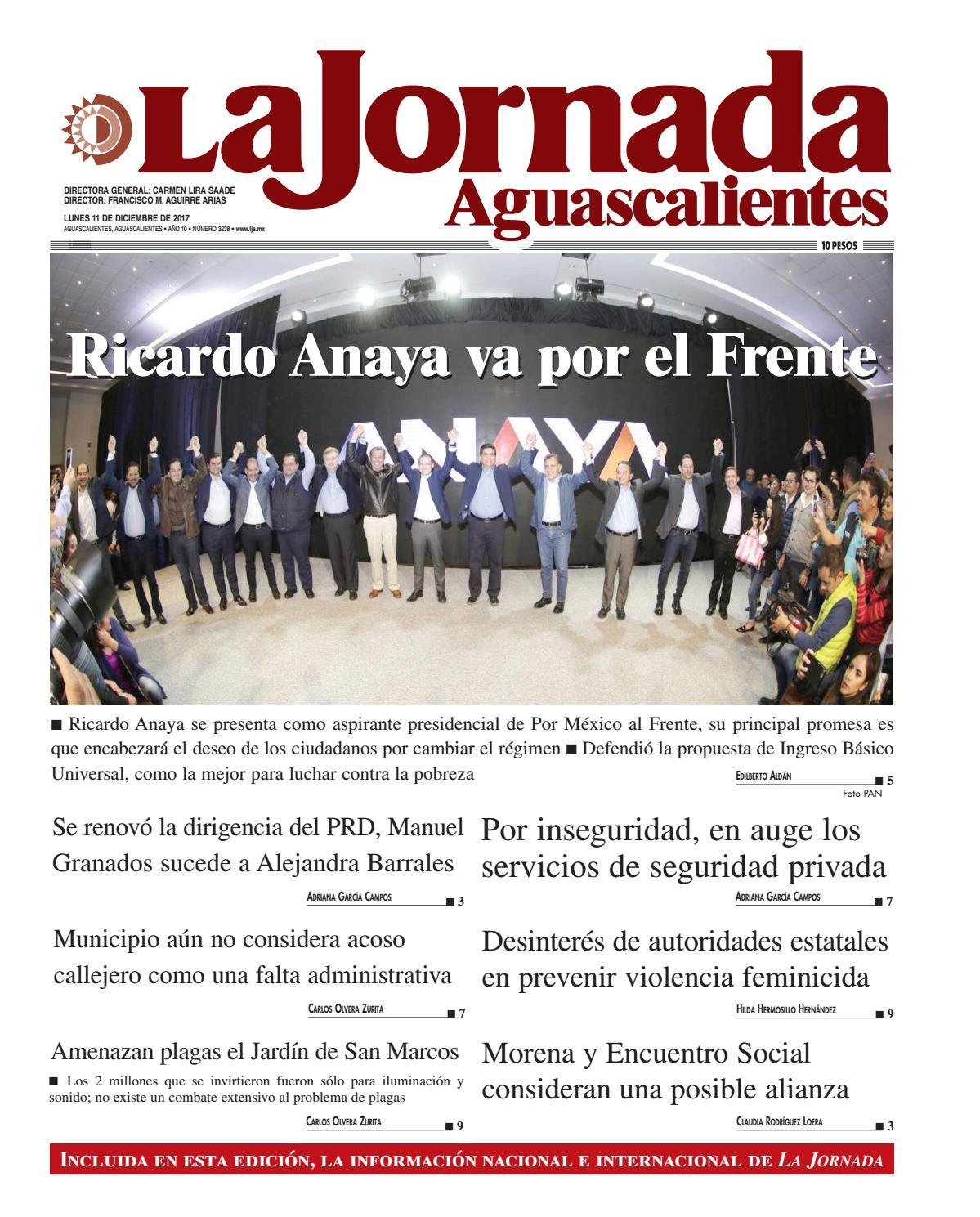 LJA11122017 by La Jornada Aguascalientes - issuu