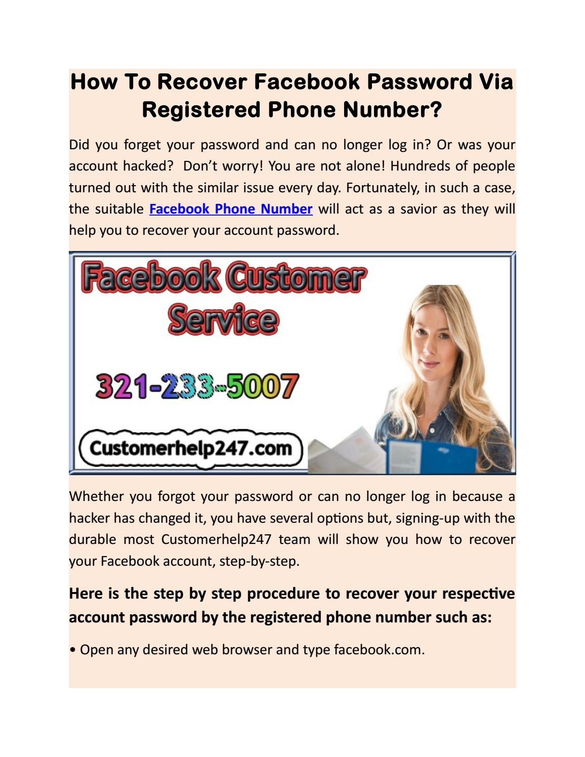HOW TO RECOVER FACEBOOK PASSWORD VIA REGISTERED PHONE NUMBER