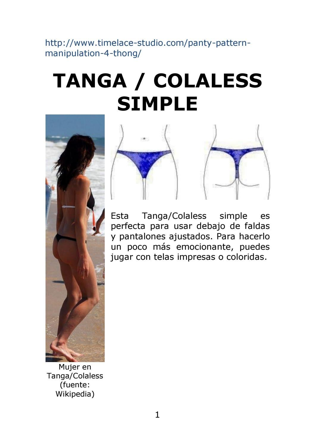 64f54e906 Tanga o Colaless Simple by Moldes   Patrones Bikinis y Tangas   Colaless -  Thongs Patterns - issuu