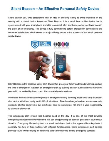 Silent Beacon – Personal Safety Wearable Device by silentbeacon - issuu