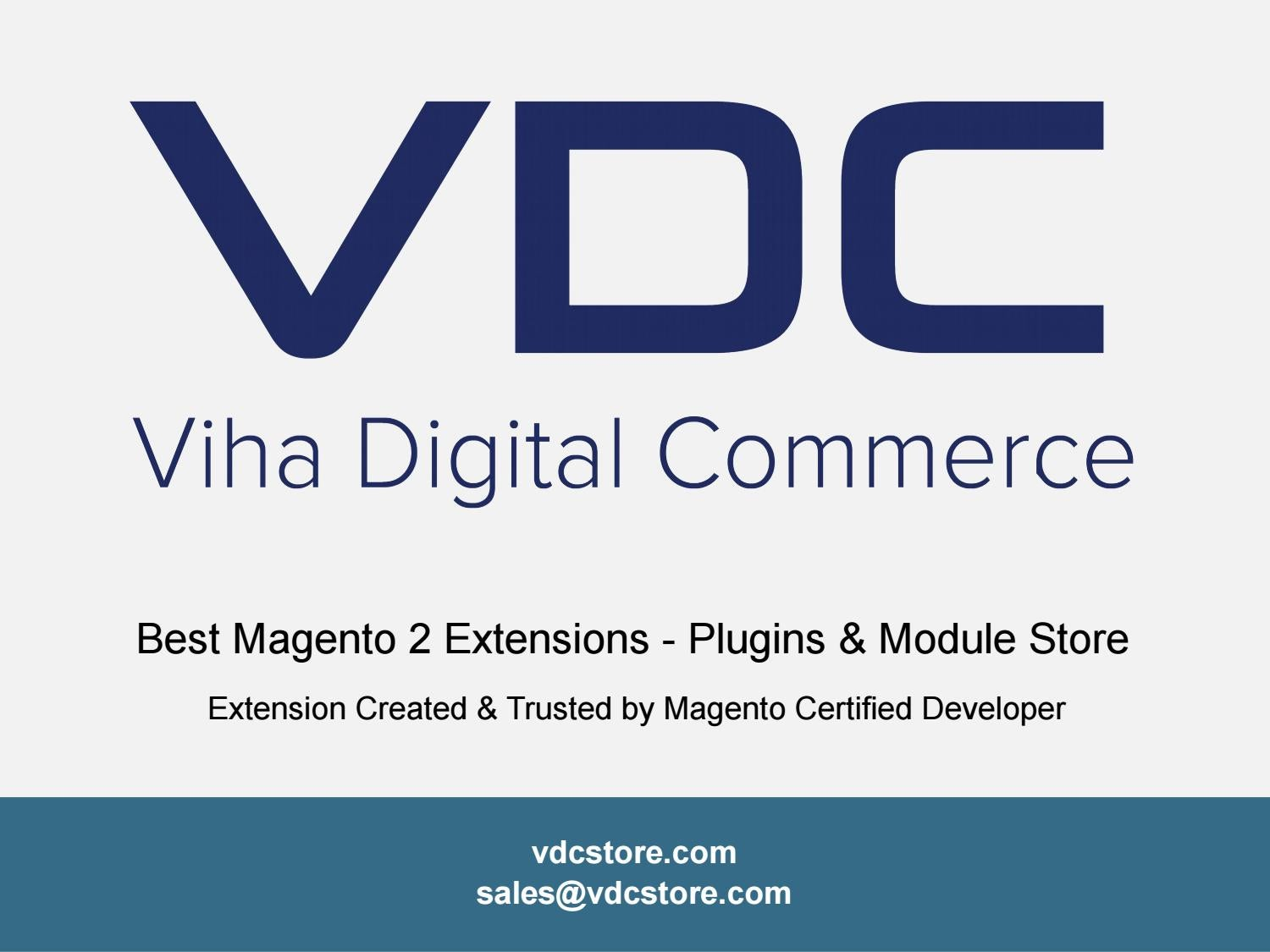 Most Affordable Magento 2 Extensions, Plugins and Support by VDC