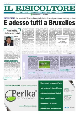 95fa9a3613 Il Risicoltore (Dicembre 2017) by Ente Nazionale Risi - issuu