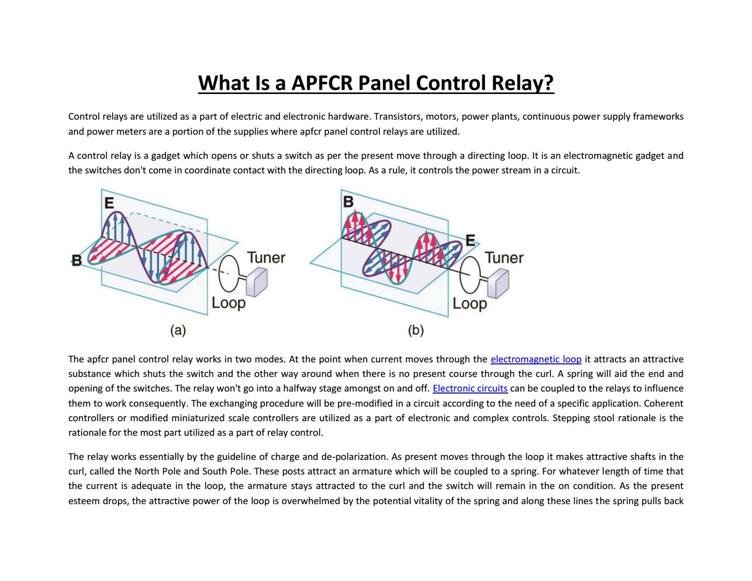 What Is A Apfcr Panel Control Relay By Aryan Vasani Issuu Power Supply Switch