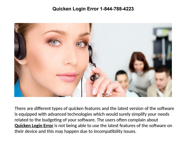 Quicken login error 1 844 788 4223 by customersupportusa - issuu