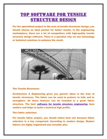 Top software for tensile structure design by Ixray Ltd - issuu