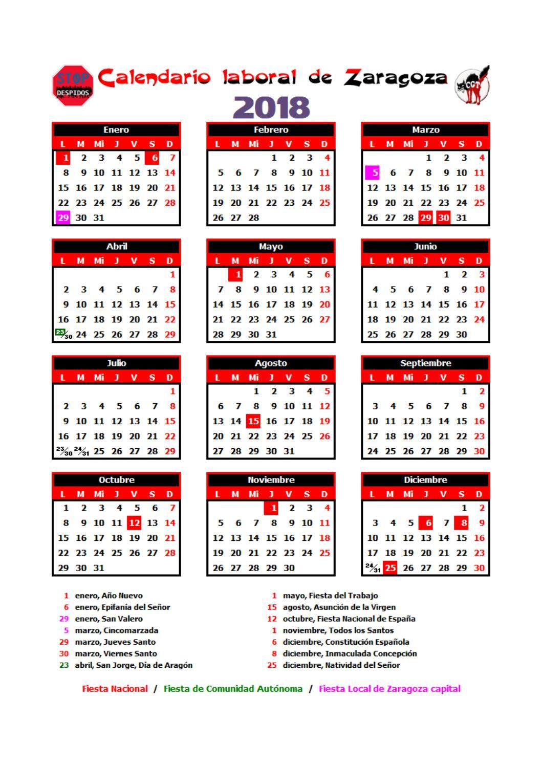 Calendario Santos.Calendario Laboral 2018 Z By Cgt Atos Issuu