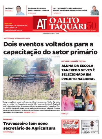 26f726f62 Jornal O Alto Taquari - 17 de novembro de 2017 by Jornal O Alto ...