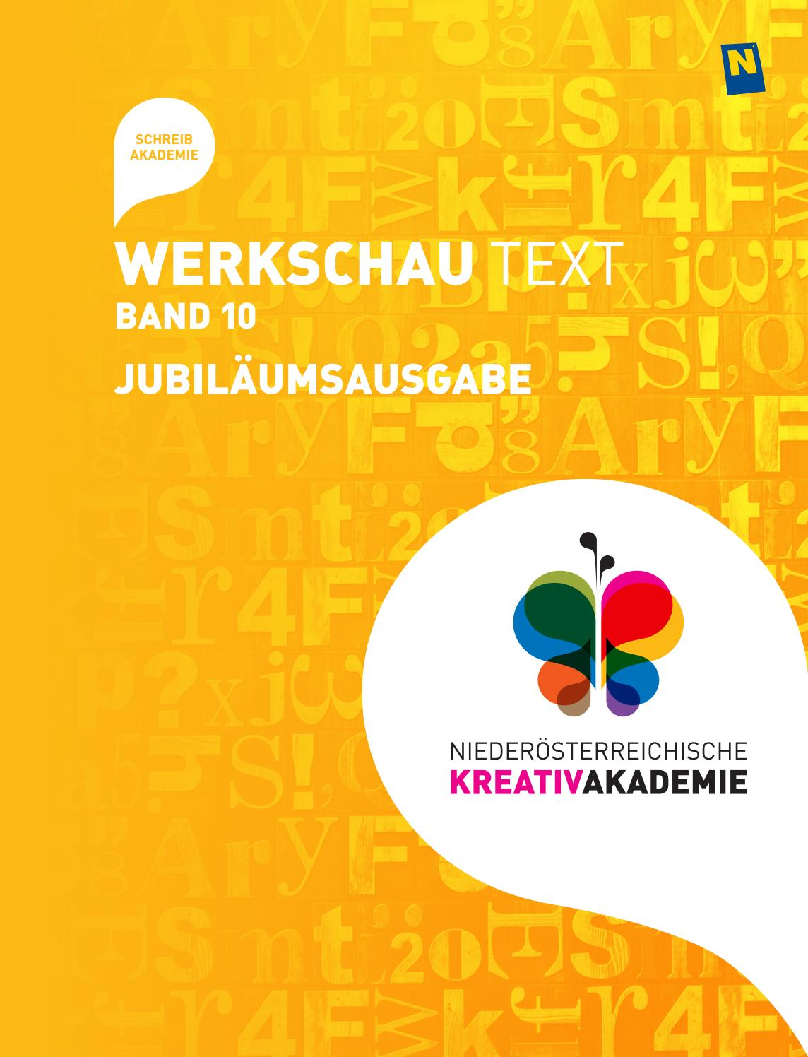 Werkschau Text Band 10 by NÖ KREATIV GmbH - issuu