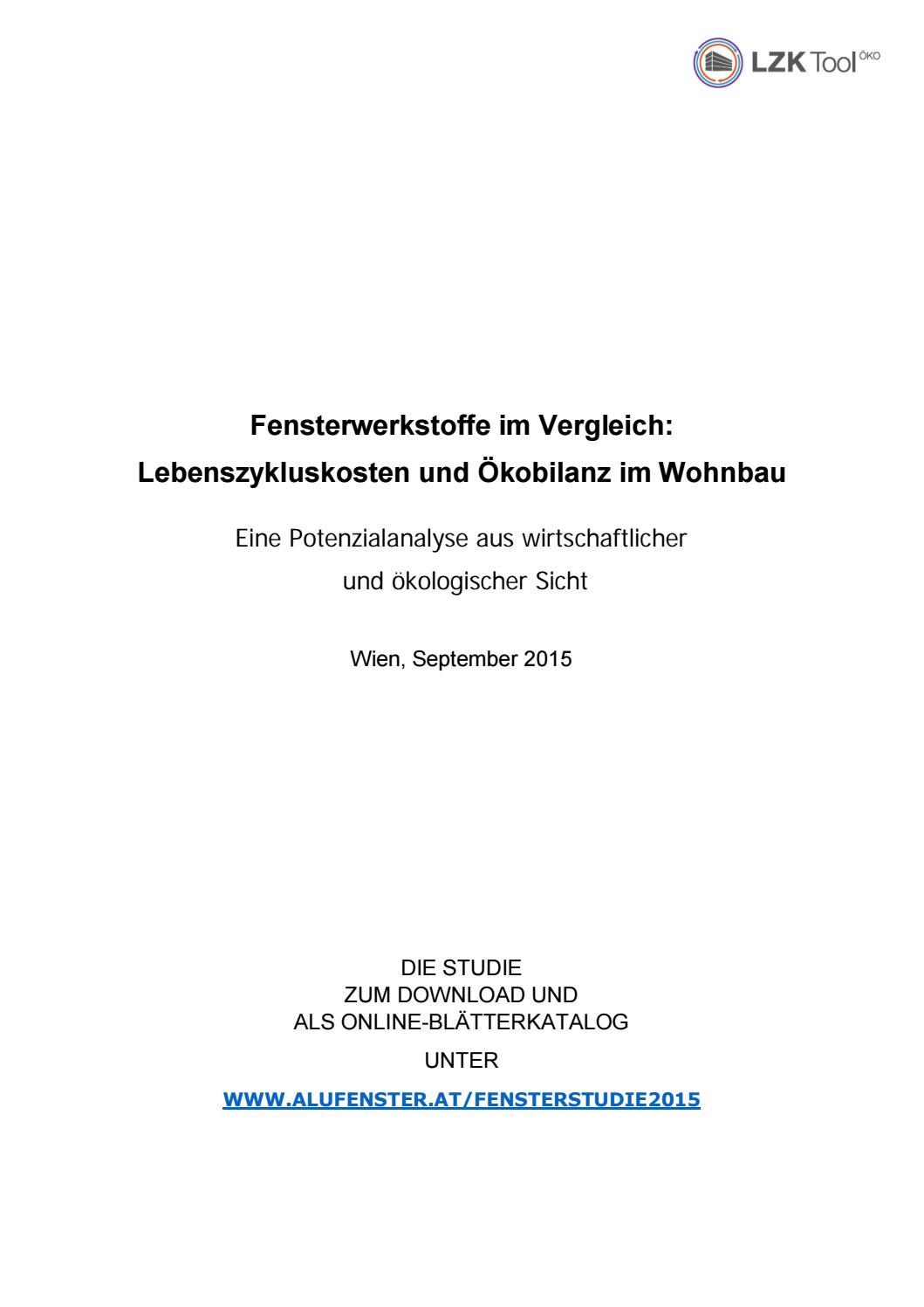 Aluminium Fenster Institut Vergleich Fensterwerkstoffe By